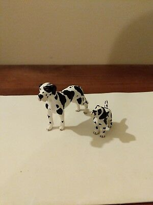 GREAT DANE AND PUP by Schleich; toy/dog/ 2010/RETIRED