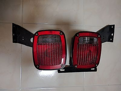 GROTE 5370 5371 TAIL LIGHTS TRAILER Set Truck Ford RV Semi W/ Mounting Brackets