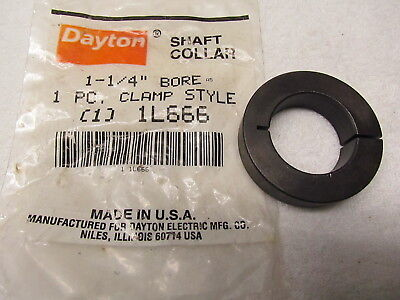 "Dayton Shaft Collar 1L666, Clamp Collar Style, 1 1/4"" Bore"