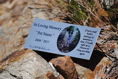 Custom Made Silver Aluminium PET MEMORIAL PLAQUE
