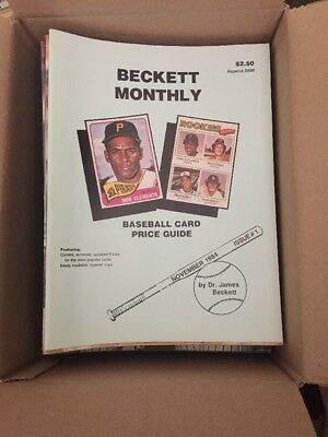 Lot of 40 Classic,Vintage Beckett Baseball Card Monthly Magazines From The 1990s
