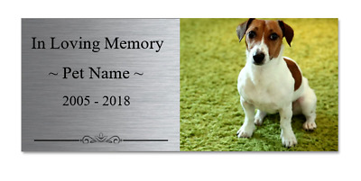 Custom Made PET MEMORIAL PLAQUE Square Photo