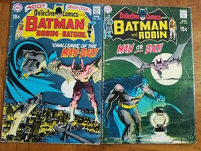 Detective Comics (1st Series) 400 And 402 1970 GD/VG 3.0