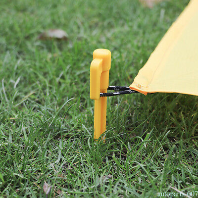 10PCS Outdoor Camping Plastic Stakes Pegs Nails Tent Awning Fixing Heavy Duty US