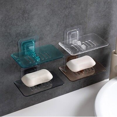 Suction Soap Dish Box Storage Plate Tray Holder Case Container Bathroom Shower