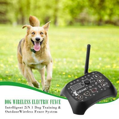 Wireless Electric Pet Dog Collar Fence Containment Waterproof Transmitter System