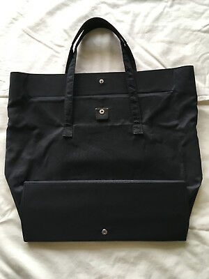 Lodis Nylon Black Tote Bag With Leather Trim and Accented Leather Handles  for Wo 2b794f689d