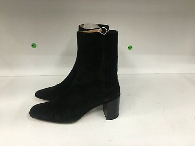 1cf0bf695f2 BALLY BLACK SUEDE Vintage Dress / Ankle Boots Women's Size 5