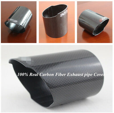 New 89mm High Quality Real Carbon Fiber Car Exhaust Pipe Cover Tip Accessories