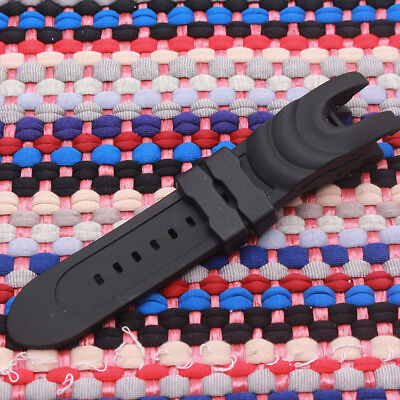 Black Rubber Wristwatch Watch Band Strap For Invicta Reserve Collection Venom