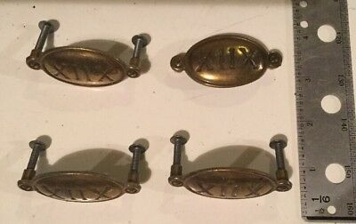"8 Vintage Brass Roman Numeral XIIX 2 1/4"" Furniture Embellishments See Photos"