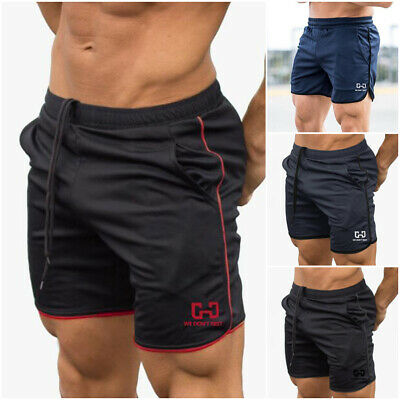 AU Men's GYM Shorts Training Running Sport Workout Casual Jogging Pants Trousers