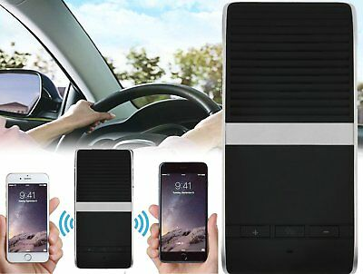 Wireless Bluetooth Multipoint Hands-free Speakerphone Kit Car Sun Visor AO