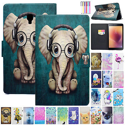 For Samsung Galaxy Tab A 8.0 T350 Tablet Smart Case Leather Card Slot Flip Cover