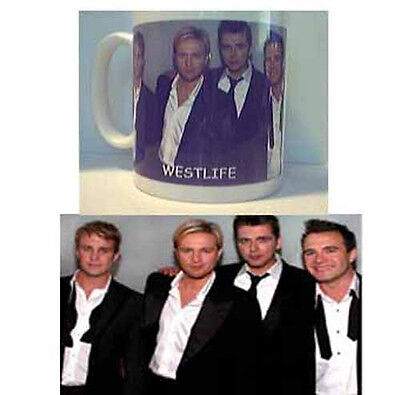 WESTLIFE   Mug NEW  great gift can be Personalised free