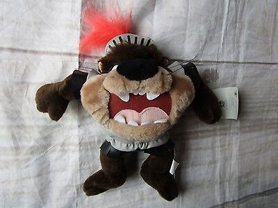 "Looney Tunes 12"" Tasmanian Devil Taz Dressed as Knight  Stuffed Plush 1997"