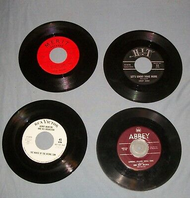 3Record Lot 45 Vtg Vinyl Henry Mancini Nfs Leroy Jones Limbo Lawrence Piano Cook