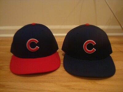 VTG Lot of 2 Chicago Cubs New Era hat cap 7 1/4 Diamond Collection fitted 90s