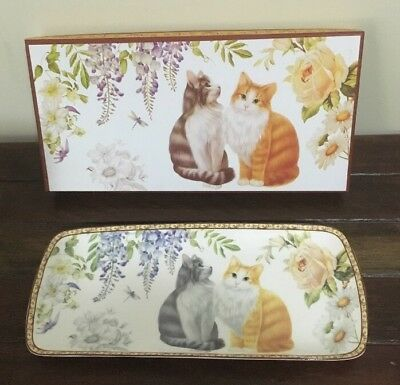 Serving Plate Fine Bone China The England Collection Cat Design New In The Box