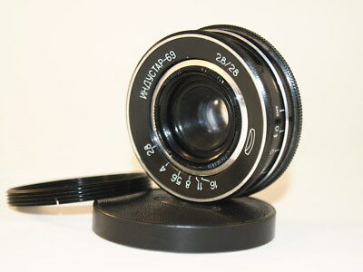 28 mm f 2,8 Soviet lens  Industar- 69 + adapter M39 - M42 USSR