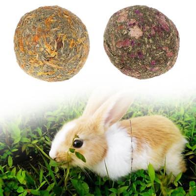 2pcs Pet Teeth Chew Grinding Natural Grass Ball Toys for Rabbit Hamster use