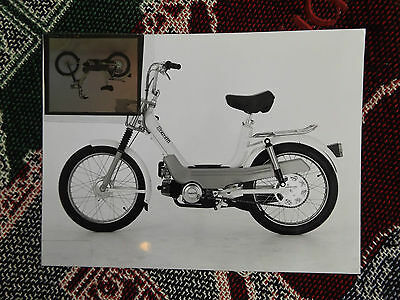 """9"""" x 7"""" MOTORCYCLE MEDIA PHOTO & NEGATIVE - BENELLI SCOOTER MOPED"""
