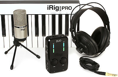 NEW IK Multimedia Irig Pro Duo Irig Keys Pro Mic Headphones Studio Suite Deluxe