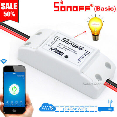 Sonoff Basic Smart Home WiFi Wireless Switch Module For IOS Android APP Ctrl