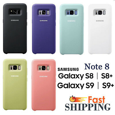 GENUINE Case For SAMSUNG GALAXY S8 S9 Plus Note 8 Soft-Silky  Silicone Cover UK