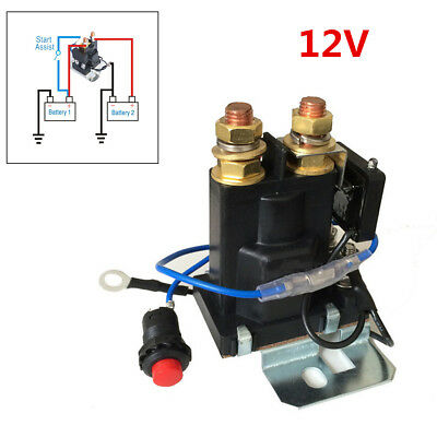 Durable Car SUV Dual Battery Isolator Emergency Switch Controller Relay 12V 200A