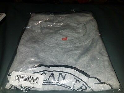 Menards Tradition American Tradition Gray T-shirt XL Hanes free ship new in pack