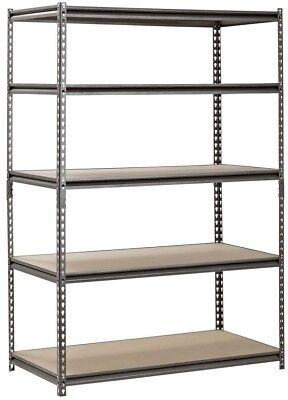 "Muscle Rack 5-Shelf Heavy-Duty Steel Shelving (48""W x 24""D x 72""H) - Free Ship"