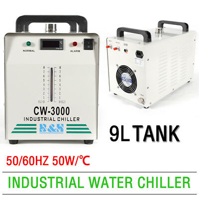 Industrial CW3000 Water Chiller Thermolysis F/CNC Engraver 60/80W CO2 Glass Tube