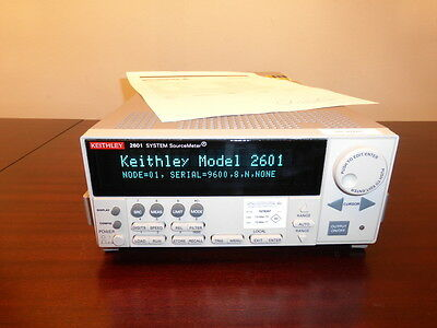 Keithley 2601 Single Channel System SourceMeter (3A DC, 10A Pulse) - CALIBRATED!