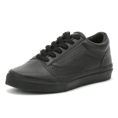db6754028a kids leather vans. VANS KIDS BLACK Monochrome Old Skool ...