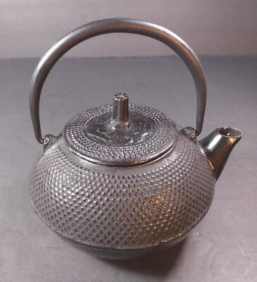 Fine Antique Japanese Cast Iron Tetsubin Teapot Makers Mark