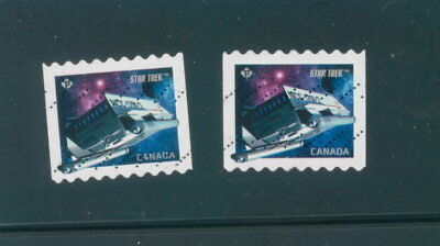 Canada 2017 Star Trek Coil 2 Stamps