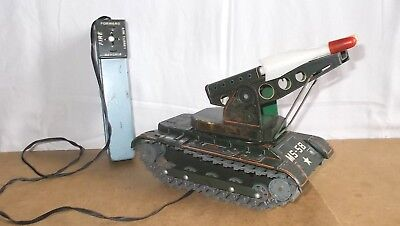 Ancien jouet / vintage toy - MODERN TOYS missile launcher tank MS 58 WORK - 60s