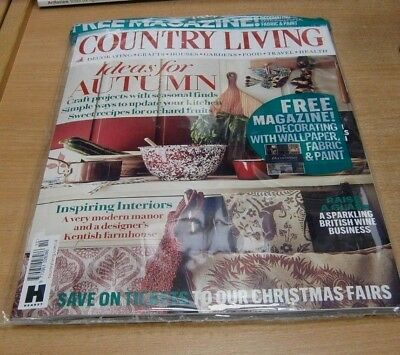Country Living magazine OCT 2018 Autumn Crafts, Kitchen Updates + Decorating Sup