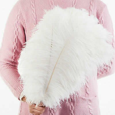 Large White Ostrich Feathers Plume 12''-14'' Long Wedding Party Costume Craft
