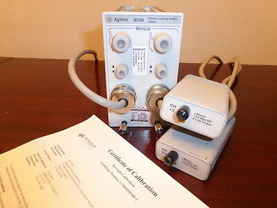 Agilent / Keysight 86118A 70GHz Dual Remote Sampling Head - CAL'D!  86100A/B/C/D