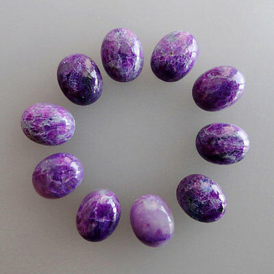 7x9MM Natural Purple Sugilite Lot, Oval Shape, Calibrated Cabochons AG-217