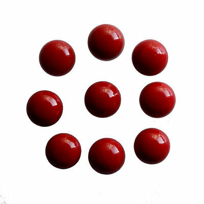 8MM Round Shape, Red Coral Calibrated Cabochons AG-231