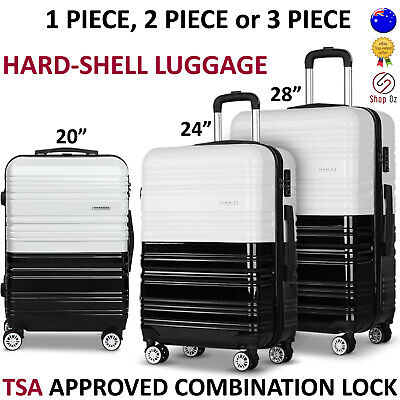 New TRAVEL LUGGAGE SUITCASE BAG SETS Hard Shell Case 4 Wheel Large Lightweight