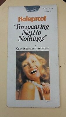 Vintage  HOLEPROOF Next To Nothings SHEER To Waist PANTYHOSE