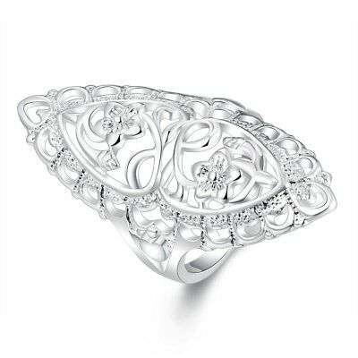 Ladies 3 Colors Openwork Charming Exquisite Ring Jewelry Size Choose N7