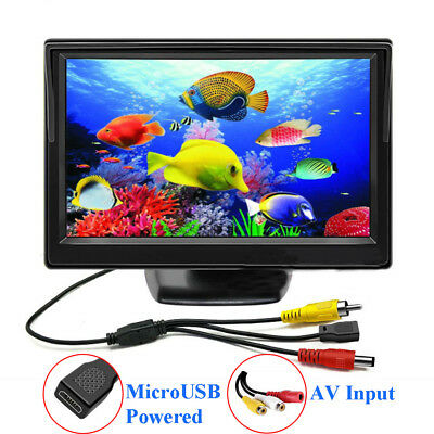"5"" LCD CCTV Home Monitor Mini Screen 800*480 Micro USB Power AV Input PAL/NTSC"