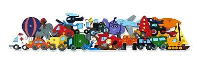 Alphabet Transport Jigsaw   Educational Chunky Wooden Puzzle   ABC Letters Fun