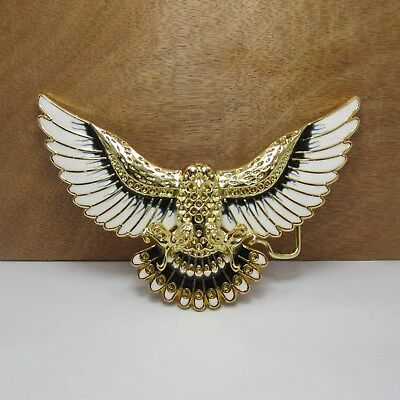 Gold Plated Eagle Metal Alloy Fashion Belt Buckle