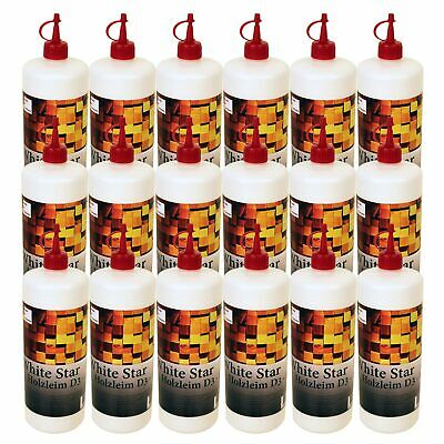 18 x 1000g Flasche Holzleim D3 Weißleim -DIN EN 204- Made in Germany White Star